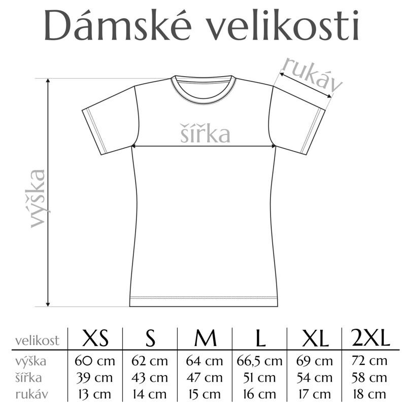 Tabulka velikostí dámských triček